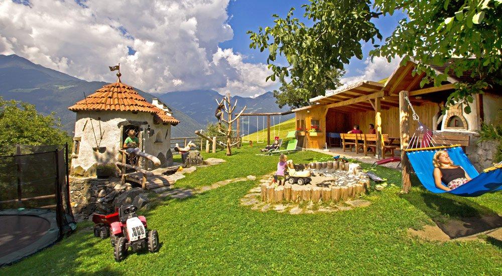 Parco giochi avventura con maniero sul maso Putzerhof