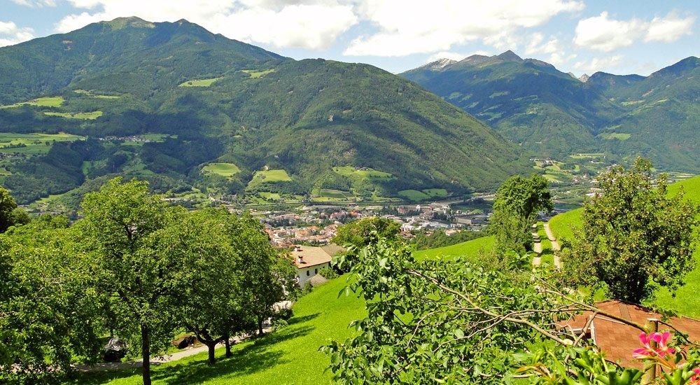 Ausblick nach Brixen und Eisacktal