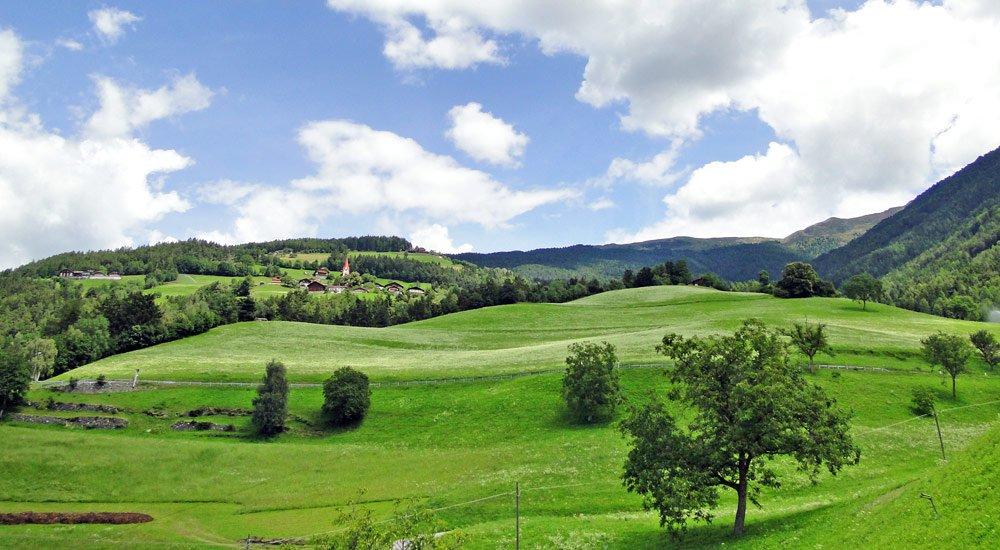Ausblick nach St. Leonhard und Plose Berg