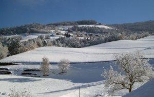 Winter auf dem Bauernhof in Südtirol